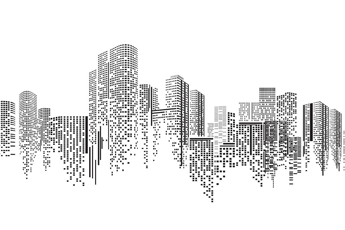 Representação de grandes construções.