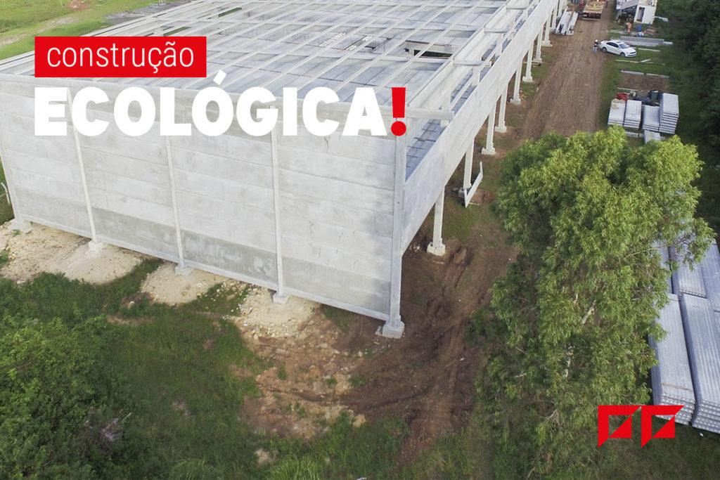 obra pré-fabricada construção sustentável
