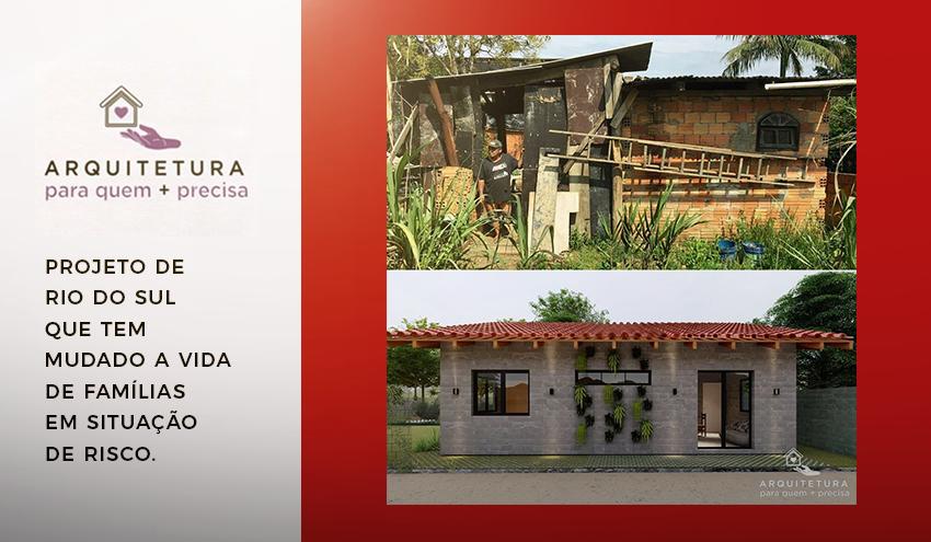 Arquitetura para Quem + Precisa, um projeto para mudar a vida de famílias e a visão de futuros arquitetos.